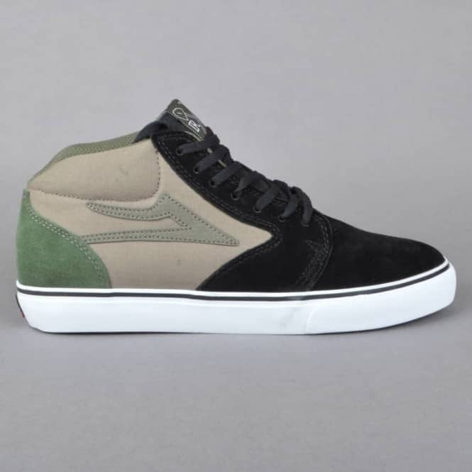 Lakai Fura High Skate Shoes - Black/Walnut Suede - SKATE SHOES from Native  Skate Store UK