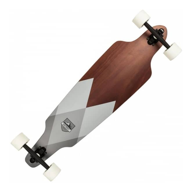 D Street Skateboards Geo Drop Through Complete Longboard 10.0