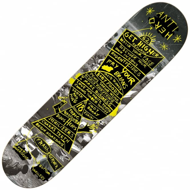 Antihero Skateboards Gerwer Star Charts Skateboard Deck 8.18