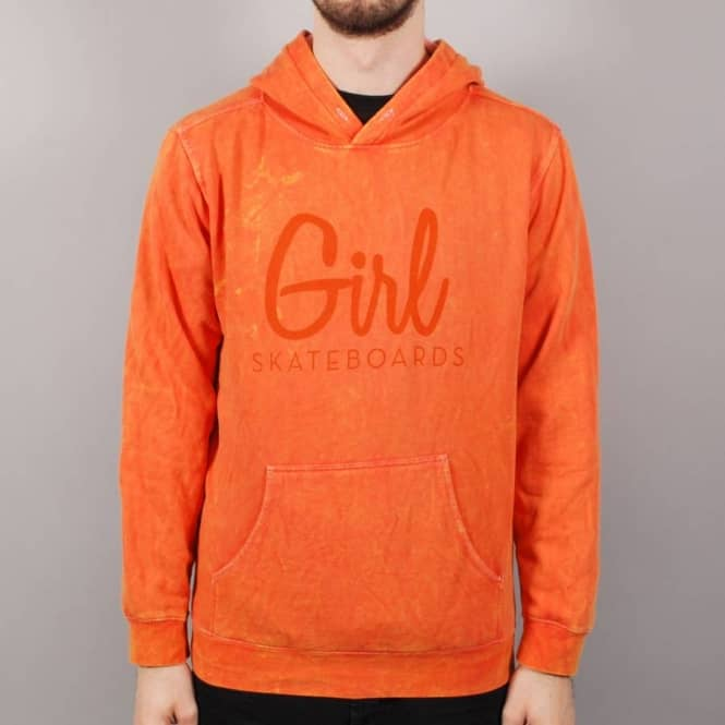 Girl Century Mineral Wash Pullover Hoodie - Burnt Orange