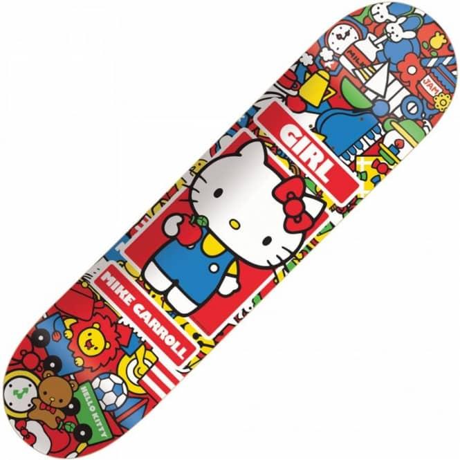 girl skateboards girl mike carroll hello kitty deck 8 0