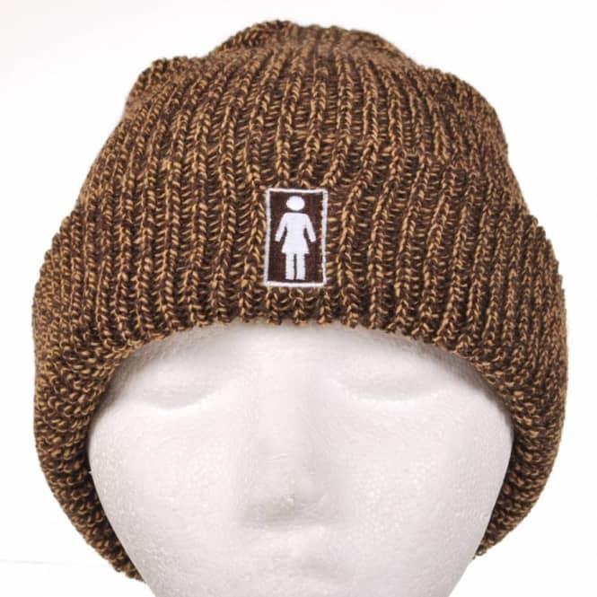535e1081768 Girl Skateboards Girl OG Marled Fold Skate Beanie - Brown - Beanies ...