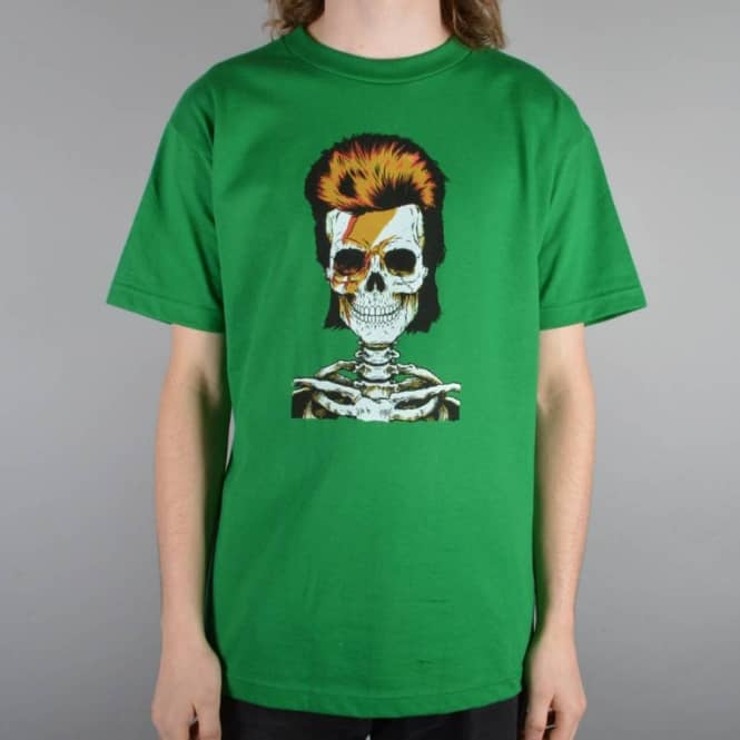 Girl Skateboards Bowie Skull Of Fame T-Shirt - Kelly Green