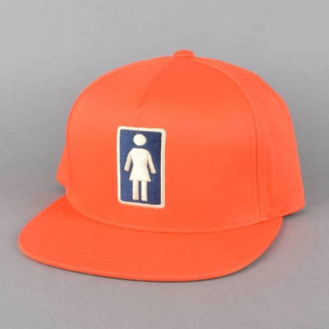 Girl Skateboards Everyday OG Snapback Cap - Orange - SKATE CLOTHING ... 37490ca5cb0