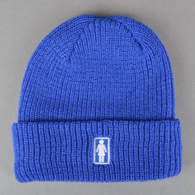 Girl Skateboards Girl OG Fold Beanie - Blue