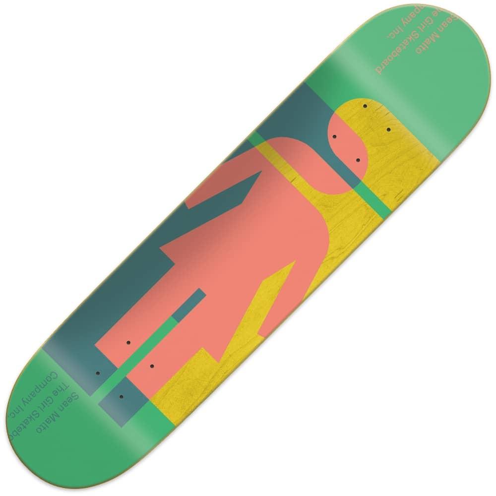 """Girl Skateboards Girl Skateboards Hardcourt Sean Malto Skateboard Deck  8.125"""" 47d3142c6fe"""