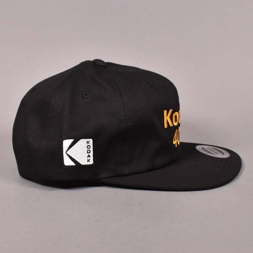 64502d46137 Girl Skateboards X Kodak Gold 400 6 Panel Snapback Cap - Black ...