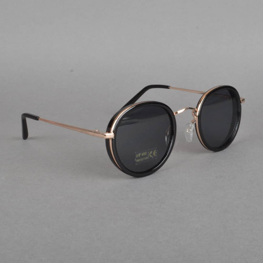 534ad1a05a2 Glassy Sunhaters Lincoln Sunglasses - Black Gold - ACCESSORIES from ...