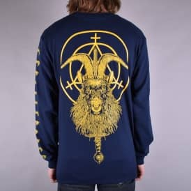 Goatwitch Long Sleeve Skate T-Shirt - Navy