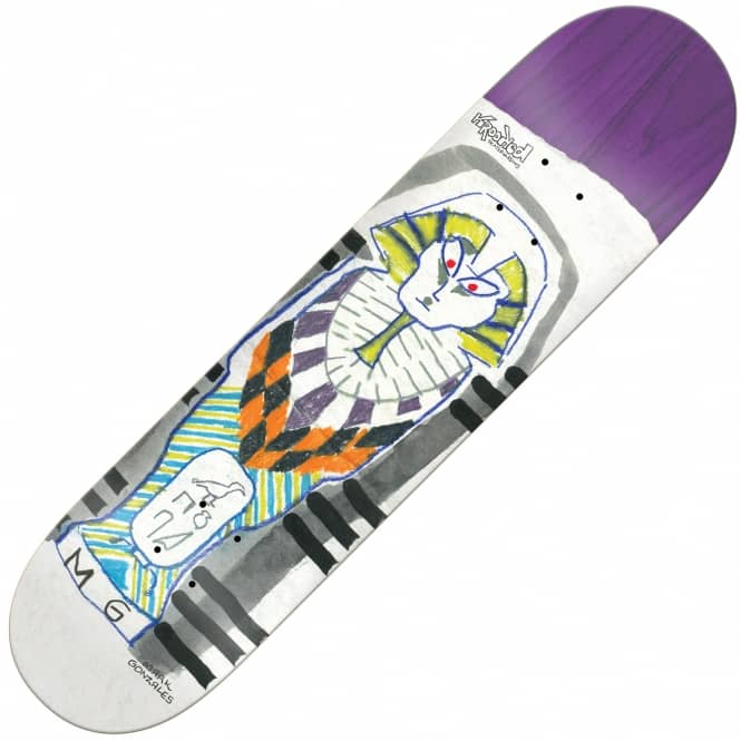 Krooked Skateboards Gonzales Faraoh (Full Shape) Skateboard Deck 8.25