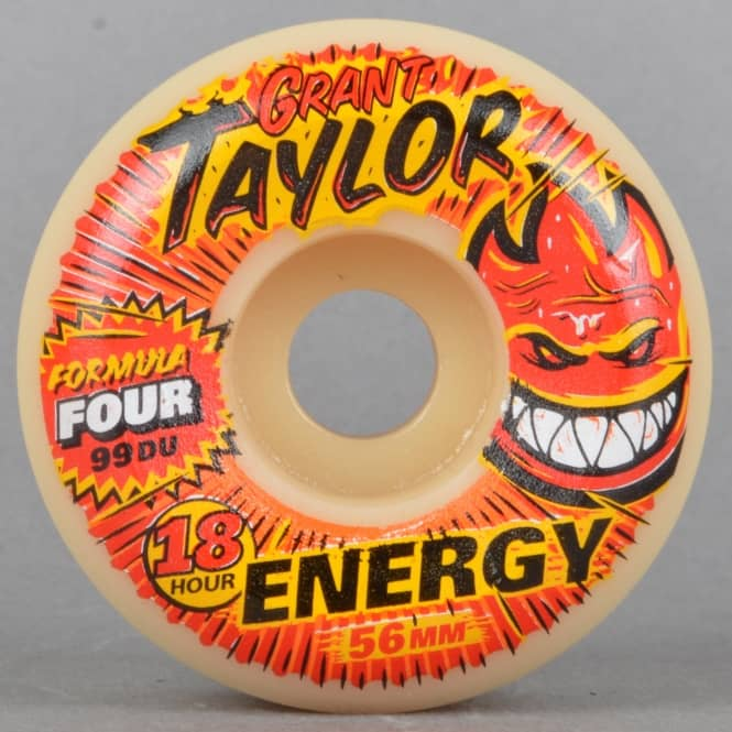 Spitfire Wheels Grant Taylor Energy Conicals 99D Formula Four Skateboard Wheels 56mm