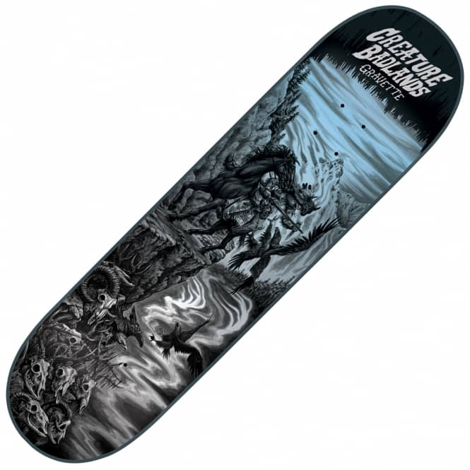 Creature Skateboards Gravette Back To The Badlands Skateboard Deck 8.25