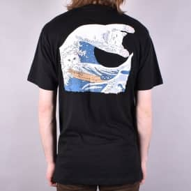 Great Wave Of Nerm T-Shirt - Black