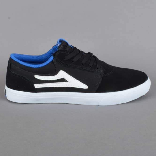 Lakai Griffin Kids Skate Shoes - Black Suede