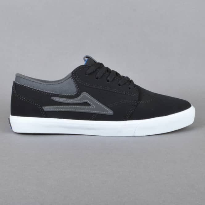 Lakai Griffin Kids Skate Shoes - Black Synthetic