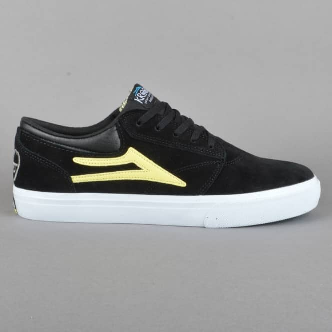 Lakai Griffin 'Krooked' Skate Shoes - Black/Yellow Suede