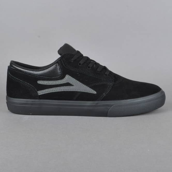 Lakai Griffin Skate Shoes - Black/Black Suede
