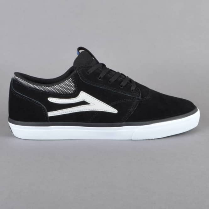 Lakai Griffin Skate Shoes - Black/Grey Suede