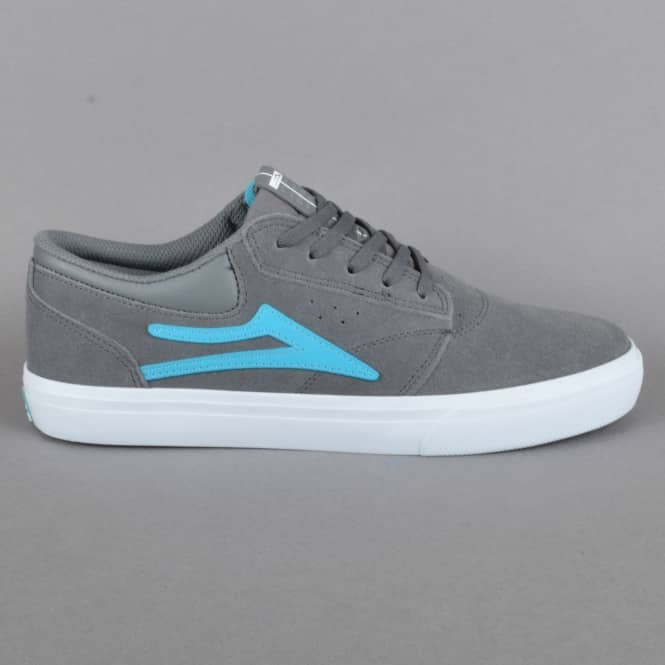 Lakai Griffin Skate Shoes - Grey/Blue Suede