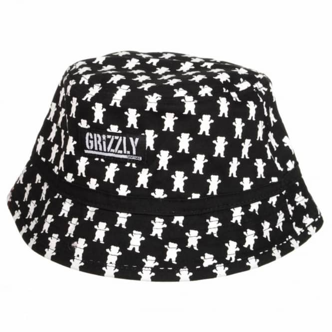 855d3ad9e51e6 Grizzly Griptape Grizzly All Over Bucket Hat - Black - Bucket Hats ...