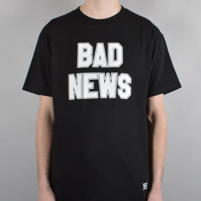 Grizzly Griptape Bad News 2 Skate T-Shirt - Black