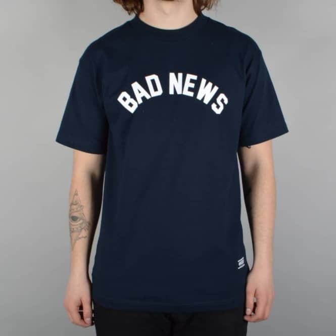 Grizzly Griptape Bad News Skate T-Shirt - Navy