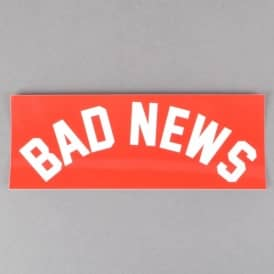 Grizzly Griptape Bad News Skateboard Sticker - Red