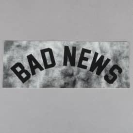Grizzly Griptape Bad News Tie Dye Skateboard Sticker - Black