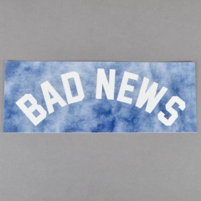 Grizzly Griptape Bad News Tie Dye Skateboard Sticker - Navy