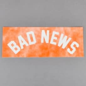 Bad News Tie Dye Skateboard Sticker - Orange
