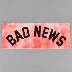 Grizzly Griptape Bad News Tie Dye Skateboard Sticker - Red