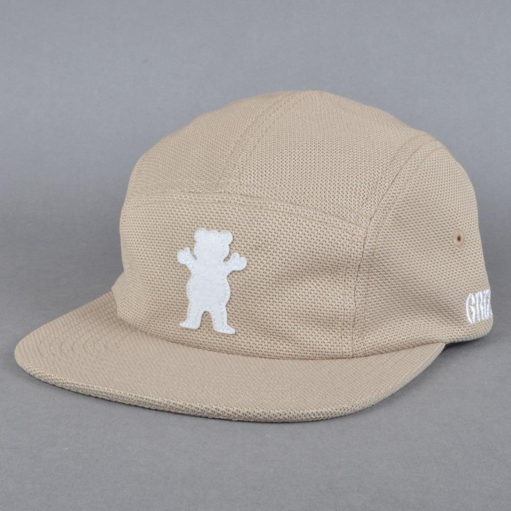 6373fb10 Grizzly Griptape BRB OG Bear Pique Cap - Tan - SKATE CLOTHING from ...