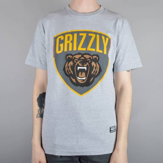 Grizzly Griptape Champion Skate T-Shirt - Heather