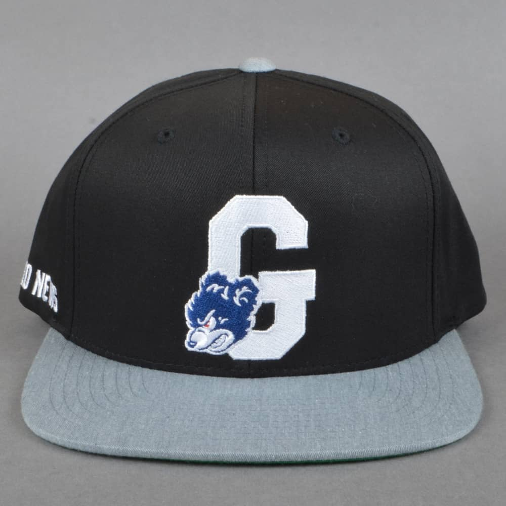 Grizzly Griptape Down And Dirty Snapback Cap - Black Grey 54815b3d204