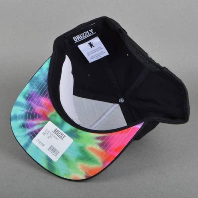 0a349f44 Grizzly Griptape Eclipse Tie Dye Snapback Cap - Black - SKATE ...