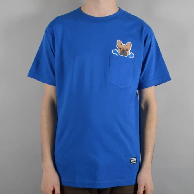 Grizzly Griptape Frenchie Pocket T-Shirt - Royal Blue