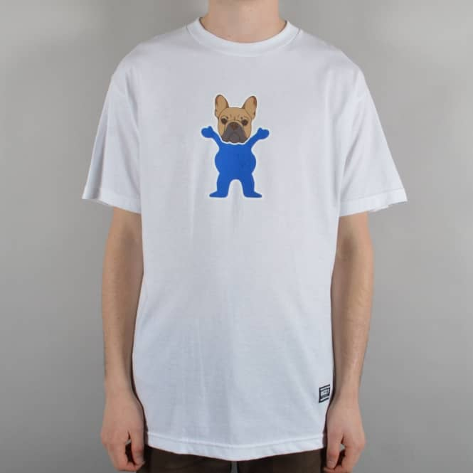 Grizzly Griptape Frenchie Skate T-Shirt - White