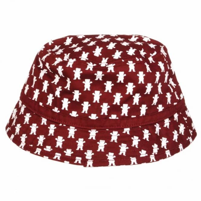 d2d976a211bcd Grizzly Griptape Grizzly All Over Bucket Hat - Burgundy - Bucket ...