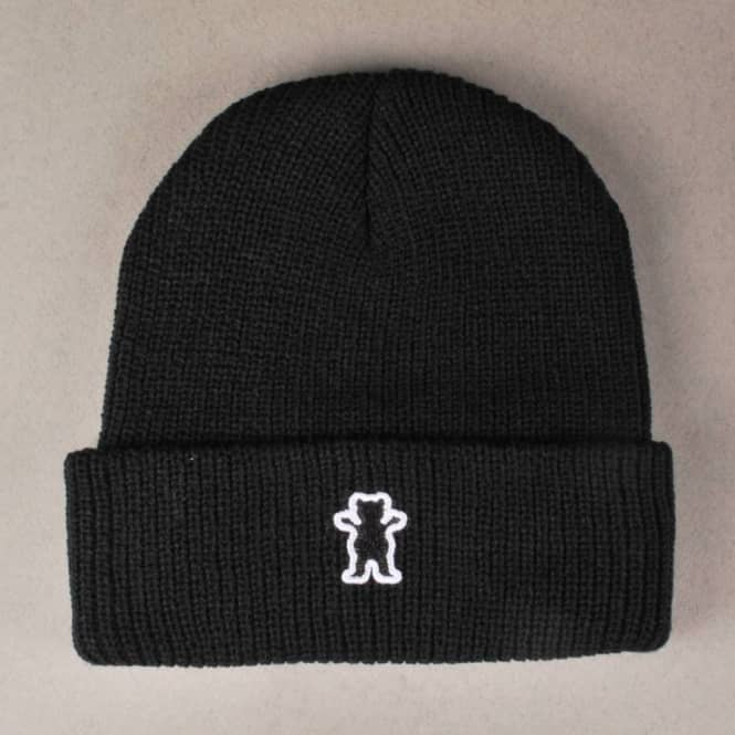 ffe1ba9bade Grizzly Griptape Grizzly Bear Patch Fold Up Beanie - Black - Beanies ...