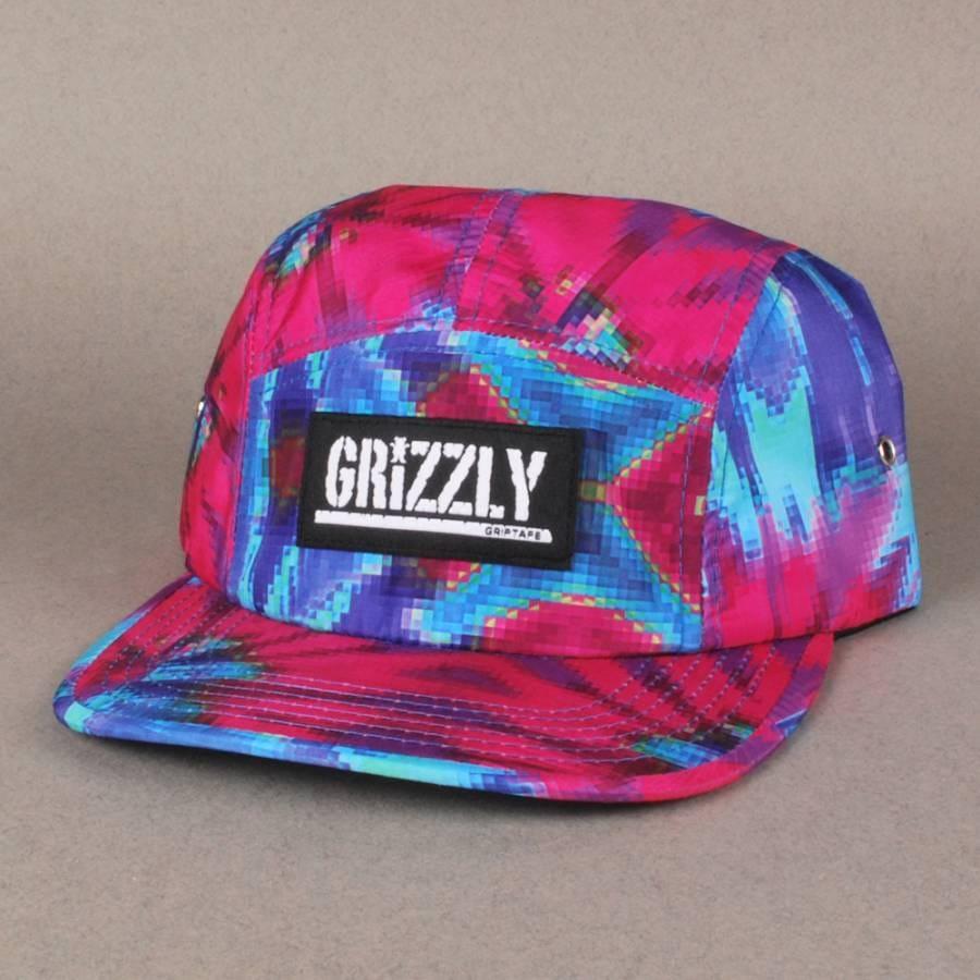 Grizzly Griptape Grizzly Digi Tie Dye 5 Panel Cap - Cotton ...