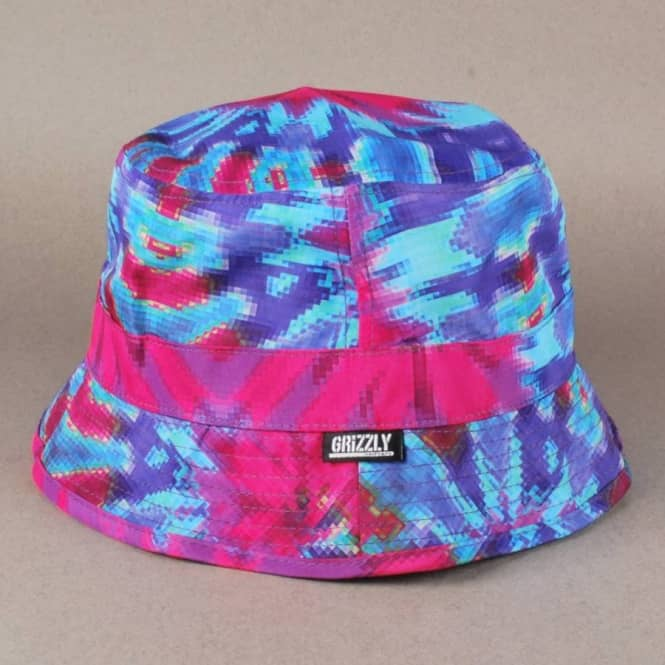 Grizzly Griptape Grizzly Digi Tie Dye Bucket Hat - Cotton Candy ... d2bded96b8d