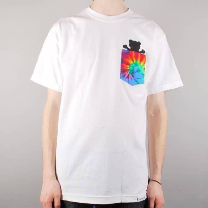163786319df Grizzly Griptape Grizzly Digi Tie Dye Pocket T-Shirt - White - Skate ...