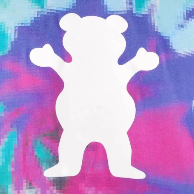 grizzly griptape grizzly digi tie dye skate t-shirt - cotton candy