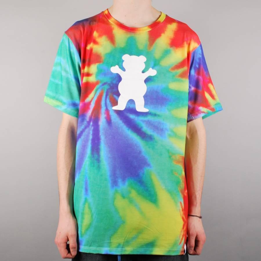 Grizzly Griptape Grizzly Digi Tie Dye Skate T-Shirt - Tie ...