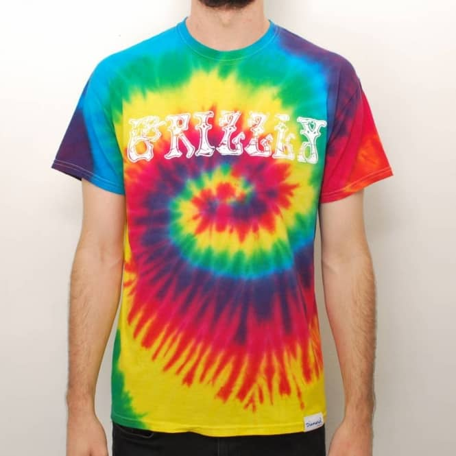 41989d57 Grizzly Griptape Grizzly Grizzly Dead Tie Dye T-Shirt - Multi ...