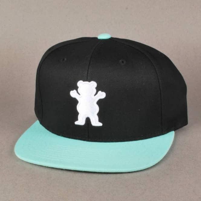 72837d4a Grizzly Griptape Grizzly OG Bear Logo Starter Snapback Cap - Black ...