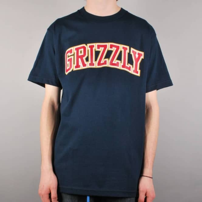 Grizzly Griptape Grizzly The Freshman Skate T-Shirt - Navy