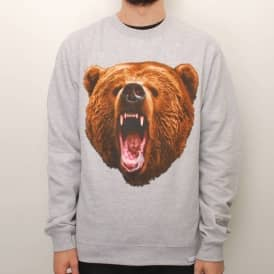 Grizzly Yosemite Crew Neck Sweater - Heather Grey