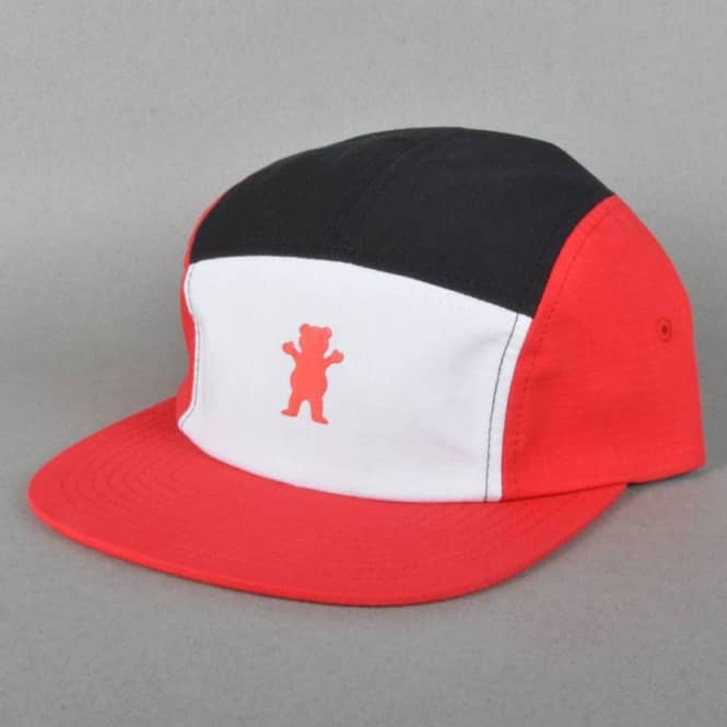Grizzly Griptape Kodak Camp 5 Panel Cap - Red