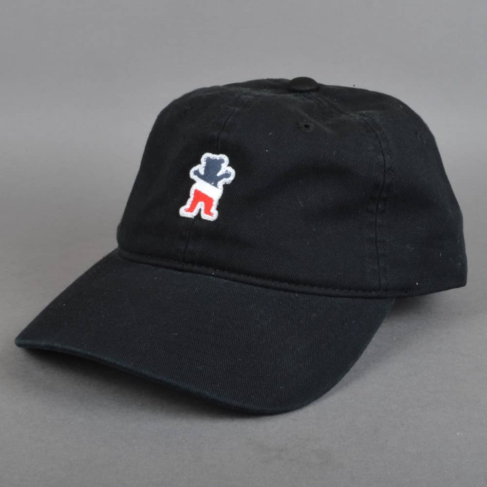 Grizzly Griptape Leader Of The Pack Dad Cap - Black - SKATE CLOTHING ... 594f2eb17540